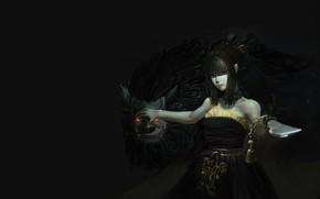 Picture weapons, Black Desert Online, fantasy, girl, art