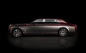 Picture profile, car, black background, Rolls-Royce Phantom Pinnacle Travel 2014