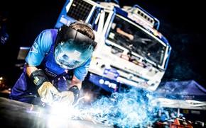 Picture People, Truck, Master, Mask, Russia, Kamaz, Rally, Dakar, Dakar, Rally, KAMAZ, Master, Work, Service, Welding