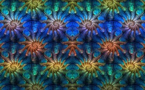Picture abstract, pattern, digital art, Fractal, symmetry