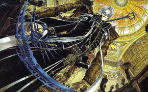 Picture Cathedral, columns, trinity blood, the dome, from the bottom up, death scythe, Abel Nightroad, Trinity …