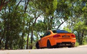 Picture orange, BMW, BMW, rear view, orange, e92