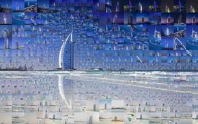 Picture collage, Dubai, UAE, Burj-al-Arab