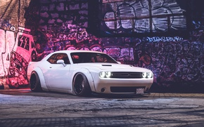 Picture white, dodge, challenger