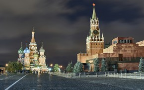 Picture Night, The city, Moscow, Landscape, Red Square, Moscow At Night