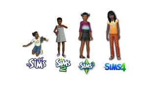 Picture girl, game, Sims, Sims 4
