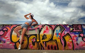 Picture girl, pose, street
