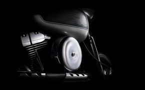 Picture engine, Harley Davidson, cylinders, tank, fine art photography