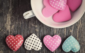 Picture heart, hearts, hearts, love, romantic, pink, wood, love