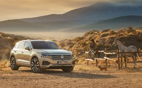 Picture Touareg, 2018, Volkswagen, ranch, Atmosphere, TDI