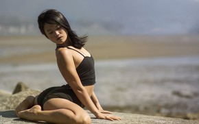 Picture girl, pose, gymnastics, yoga, legs