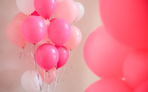 Picture Balls, pink, Holiday