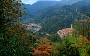 Picture landscape, mountains, photo, home, Italy, Liguria