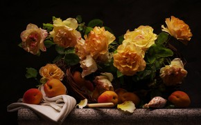 Wallpaper bouquet, roses, background, flowers