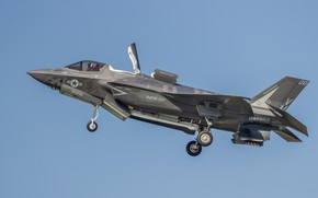 Wallpaper F35B, weapons, the plane