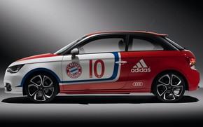 Picture car, wallpaper, sport, logo, football, FC Bayern Munchen, Audi A1