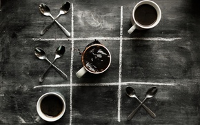 Picture coffee, Cup, spoon