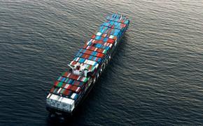 Picture Sea, Top, The ship, Cargo, A container ship, Hamburg, Hanjin, Hanjin Hamburg