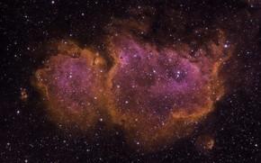 Wallpaper Soul Nebula, IC1848, space