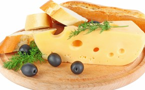 Picture food, Breakfast, cheese, bread, cutting Board