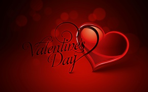 Picture text, heart, vector, postcard, Valentine's Day