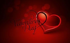 Wallpaper heart, postcard, text, vector, Valentine's Day