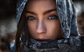 Picture girl, art, portrait, arabian girl, tomas barkauskas, tomas bark