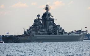 Wallpaper cruiser, atomic, Peter the great, rocket, Kronstadt