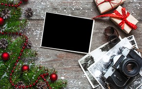 Picture photo, tree, camera, New Year, Christmas, gifts, Christmas, vintage, bumps, photo, wood, camera, Merry Christmas, …