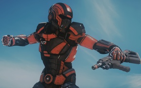 Picture weapons, costume, Mass Effect Andromeda, Pioneer
