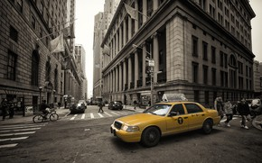 Wallpaper cityscape, taxi, New York, home