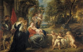 Picture picture, Peter Paul Rubens, mythology, Pieter Paul Rubens, Rest on the flight into Egypt with …