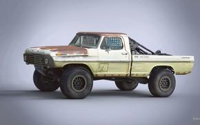 Wallpaper Ford F100, car, Trophy Rat