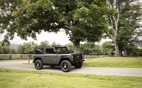 Picture road, trees, vegetation, SUV, electric, Bollinger, B1 Electric Truck