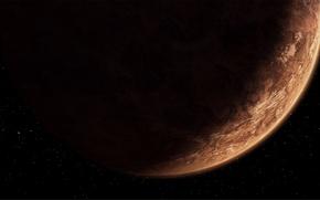 Wallpaper brown, Star Wars, darkness, planet Korriban., The Old Republic, Sci fi, planet, stars