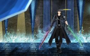 Picture sword art online, kirito, sao, artist booknote