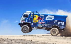 Picture Dust, Speed, Truck, Master, Beauty, Russia, 500, Kamaz, Rally, Dakar, Dakar, Rally, KAMAZ, The roads, …