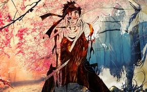 Picture anime, colorful, death, Momochi Zabuza, Naruto Shippuden