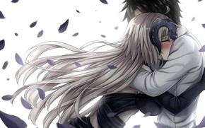 Picture romance, anime, art, two, hugs, fate grand order