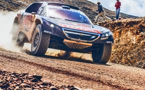 Picture Sand, 2008, Sport, Speed, People, Race, Peugeot, Lights, Red Bull, Rally, Dakar, Dakar, Rally, The …