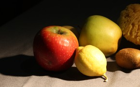 Picture Lemon, Fruit, Kiwi, Apples, Fruit