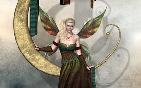 Picture girl, wings, fairy