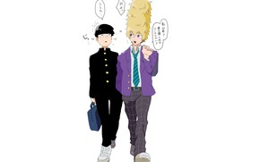Picture guys, friends, Mob Psycho 100, Mob psycho 100