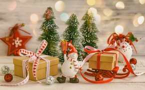 Picture decoration, tree, New Year, Christmas, gifts, Christmas, Merry Christmas, Xmas, gift, decoration, holiday celebration