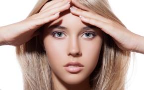 Picture model, look, blonde, hands