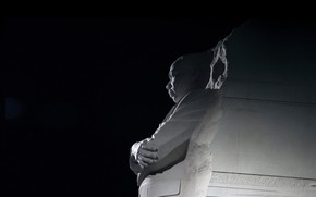Picture monument, Washington, USA, Memorial Martin Luther King