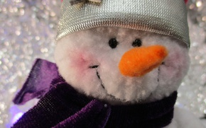 Picture macro, background, mood, new year, snowman