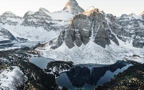 Wallpaper snow, Canada, mountains, winter