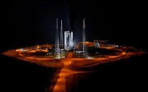 Picture lights, rocket, Playground