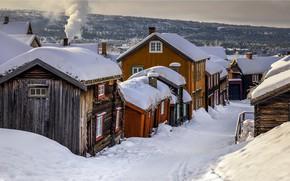 Wallpaper village, Norway, winter